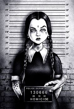 Busted Wednesday by Marcus Jones Addams Family Jail Canvas Art Print