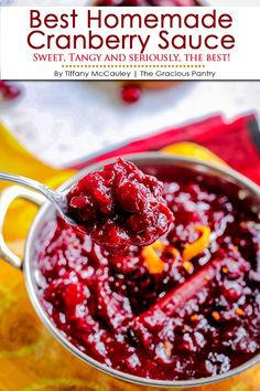 Homeade Cranberry Sauce, Cranberry Relish, Thanksgiving Recipes, Fall Recipes, Holiday Recipes, Plant Paradox Diet, Clean Eating, Healthy Eating, Cooking Sauces
