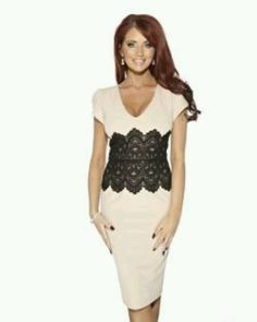 Lace detailed body con