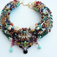 The Hiram beaded collar by Anita Quansah London