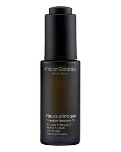 AFRICAN BOTANICS Fleurs d'Afrique Intensive Recovery Oil ( 30ml ) Alexia Inge - Co-founder Cult Beauty: Dangerously good This has a lovely earthy Jasmine scent, and is so light that it sinks into your skin like butter on hot toast.