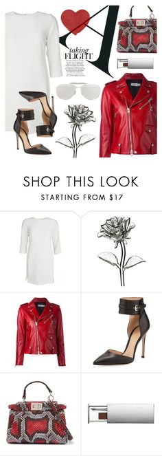 """""""❤️️"""" by julijana-k ❤ liked on Polyvore featuring Waterford, Coach, Gianvito Rossi, Fendi, Clinique and Thom Browne"""