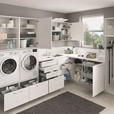 Planning and practically furnishing a utility room – Kitchen & Co. A house … – Modern Laundry Room Layouts, Laundry Room Storage, Laundry Room Design, Laundry Area, Kitchen Storage, Küchen Design, Bathroom Interior Design, Sweet Home, Home Appliances