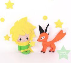 "kawaiiordiebitch: ""PDF plush sewing pattern - The Little Prince and Fox kawaii anime beginner felt doll stuffed animal """
