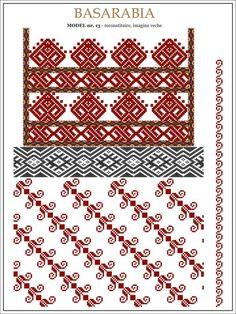 Gallery.ru / Фото #20 - BASARABIA - Tusja000 Cross Stitch Borders, Cross Stitch Designs, Cross Stitching, Cross Stitch Patterns, Folk Embroidery, Learn Embroidery, Embroidery Patterns, Peyote Patterns, Craft Patterns