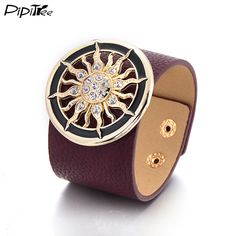 Like and Share if you want this  Pipitree New Fashion PU Leather Bracelets for Women Men Wide Circle Buckle Charms Adjustable Wrap Bracelet Women Jewelry Gift     Tag a friend who would love this!     FREE Shipping Worldwide     Buy one here---> http://jewleryfashions.com/pipitree-new-fashion-pu-leather-bracelets-for-women-men-wide-circle-buckle-charms-adjustable-wrap-bracelet-women-jewelry-gift/