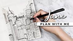 Bullet Journal: June Setup - YouTube