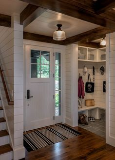 Cabin design - Beautiful New England cabin designed for relaxing lakeside getaways – Cabin design Home Renovation, Home Remodeling, Farmhouse Renovation, Farmhouse Interior, Kitchen Remodeling, Farmhouse Decor, Cabin Design, House Design, Garden Design