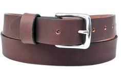 Handmade Custom Leather Belt Mens Burgundy Brown