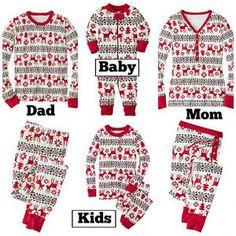Christmas Kids Baby Adult Family Pajamas Set Sleepwear Nightwear Pyjamas Costume | eBay