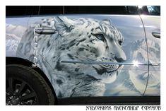 Аэрография снежного барса на MERCEDES BENZ GL 350  #airbrush #mercedes #animals #nature #снежныйбарс #art #artwork