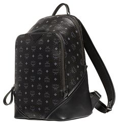 MCM DUKE VISETOS Medium Backpack BLACK