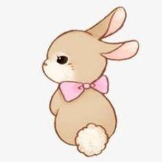 Baby Animals Clipart Easter Bunny Ideas For 2019 Cute Easy Drawings, Cute Cartoon Drawings, Cute Kawaii Drawings, Cute Animal Drawings, Cute Animals To Draw, Griffonnages Kawaii, Kawaii Bunny, Doodles Kawaii, Cute Bunny Cartoon
