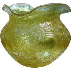 A large Art Nouveau Art Glass Vase C.1900-20