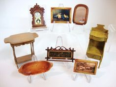 Cindy Malon pieces in my collection. Everything is by Cindy Malon except the yellow washstand.