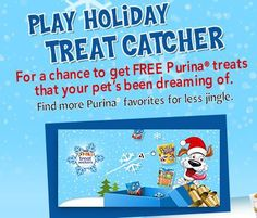 Play Purina's Treat Seek & Stash Catcher Instant win game for free pet treats!