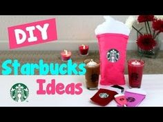 DIY Crafts: 5 Easy Starbucks DIY Ideas! Learn how to make a DIY phone case, pillow, candles, notebook & pen all inspired by Starbucks. In this easy DIY craft .