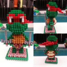 3D Raphael - TMNT perler beads by airun7691