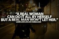 Respect that I can, but be the gentleman and don't make me do it all