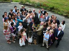 Fun twist on your wedding group shots