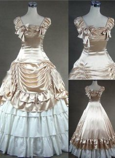 Custom Renaissance Victorian Gothic Lolita Marie Antoinette Satin Ruffle  Corset Ball Gown Medieval Velvet Vintage Costume and other apparel 6a3674f16713
