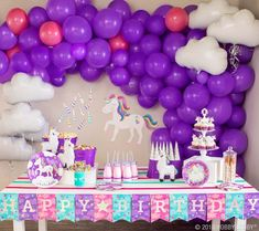 Add fantastical flair to your next party with unicorn-themed party ware! Purple Birthday, Unicorn Birthday Parties, Unicorn Party, Birthday Party Themes, 5th Birthday, Birthday Ideas, Unique Gifts For Boys, Gifts For Kids, Event Themes