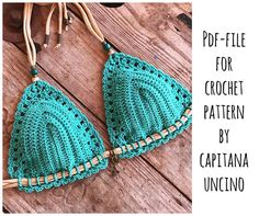 PDF-file for Crochet PATTERN Serafina Crochet Bikini Top