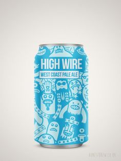 Buy High Wire Pale Ale by Magic Rock from HonestBrew. Beer Packaging, Packaging Design, Home Brewing Beer, Brewing Co, Craft Beer Brands, Beer Can Collection, Scotch Whiskey, Irish Whiskey, Pale Ale Beers