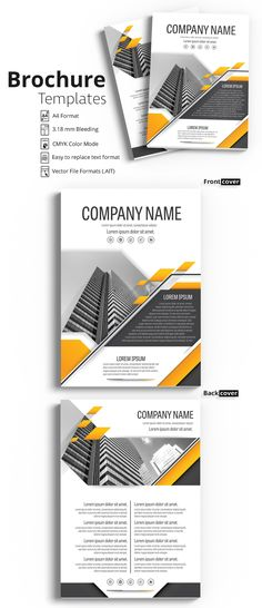 Brochure Cover Layout with Gray and Orange Accents 22 - image | Adobe Stock #Brochure #Business #Proposal #Booklet #Flyer #Template #Design #Layout #Cover #Book #Booklet #A4 #Annual #Report| Brochure template | Brochure design template | Flyers | Template | Brochures | Flyer Background | Background design | Business Proposal | Proposal Design | Booklet | Professional | Professional - Proposal - Brochure - Template