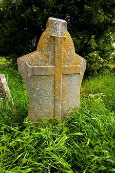 Medieval grave marker at the Hore Abbey, County Tipperary, Ireland