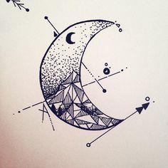 Geometric moon design