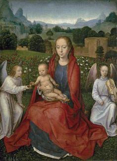 La Virgen y el Niño entre dos ángeles - Colección - Museo Nacional del Prado