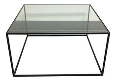 Iron & Glass Coffee Table on Chairish.com