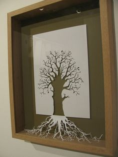 Wow. This really has many levels of coolness. Using the cutout paper and it represents the tree below the surface that you can't see ie. The roots :) poetry with paper here.