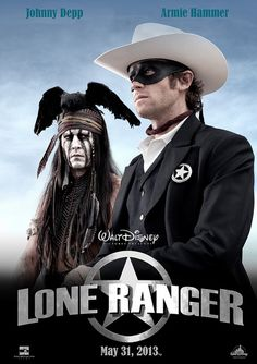 From Japan this new trailer packed with action, chases and explosions for The Lone Ranger, the epic western directed by Gore Verbinski (Pirates of the Caribbean) starring Johnny Depp and Armie Hammer and will be released in July 2013 Series Movies, Movie Characters, Comedy Movies, See Movie, Movie Tv, Little Dorrit, Johnny Depp Movies, The Lone Ranger, Poster S