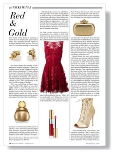 """""""Red & Gold"""" by sarah-mathers ❤ liked on Polyvore featuring Nicki Minaj, Ruth Tomlinson, Zuhair Murad, Gianvito Rossi, Christian Dior, Alexander McQueen and Yves Saint Laurent"""