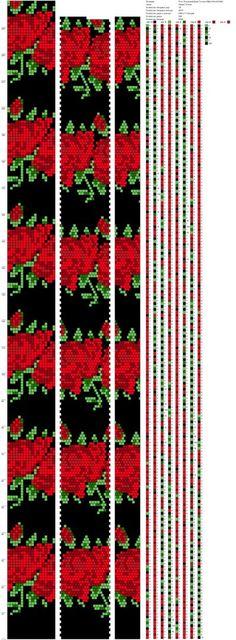 Схемы жгутов из бисера крючком от Марии Глуховой   ВКонтакте