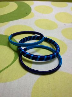 Lovely Blue and blue silk thread bangles..