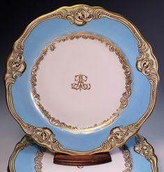 Rare Set 5 Chamberlain's Worcester Porcelain Cabinet Plates c. 1840  #Georgian #ChamberlainsWorcester