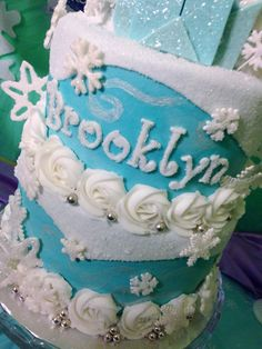 After All The Pins And This My Elsa Frozen Cake For Brooklyns Birthday Made By Me And Brooklyn Helped At Cake My Day
