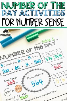 Our Number of the Day Templates are a great resource to use to work on building your students' math number sense! The templates cover everything from 2-digit to 6-digit numbers, so you can differentiate these math activities for 1st, 2nd, 3rd, 4th, or even 5th grade students! The templates are engaging for your students, and really help them build a strong foundation for numbers and how they work. Student Learning, Teaching Math, Teaching Resources, Teaching Ideas, Teen Numbers, Math Numbers, Number Sense Activities, Math Activities, Primary Maths