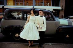 Tiffany + Danny's 1950′s Rockabilly Wedding  Every detail is perfection  Look at that car