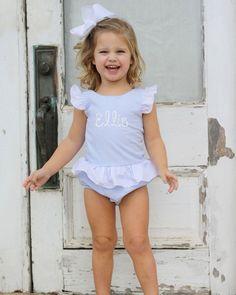 2 Piece Seersucker Bikini Baby Girl's Crab Ruffles Cool In Summer And Warm In Winter Swimwear