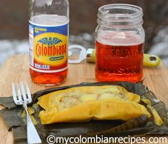 Colombian style tamal using masarepa instead of ground corn