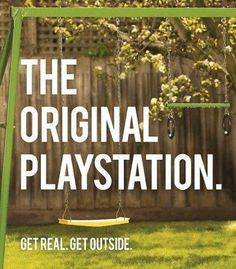 """Campania Reclame Inteligente: """"Stihl"""" - The Original Playstation. Get Real. Get Outside. We Are The World, Wonders Of The World, Die Outsider, Clever Advertising, Advertising Campaign, Brand Advertising, Very Clever, Out Of Touch, Thats The Way"""