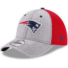 best website 57c6c 68bc4 New England Patriots New Era Neo 2 39THIRTY Flex Hat - Heathered Gray Red
