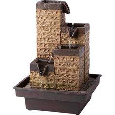 Diy Water Fountain, Indoor Water Fountains, Indoor Water Features, Mini Waterfall, Buddha Decor, Tabletop Fountain, Outdoor Decor, Khalid, Krishna