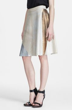 foiled  leather skirt /with bronz-gold-silver colour by Phillip Lim