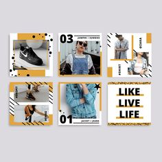 Perfect for those who wish to stand out and share their beautiful moments through a branded social feed. Social Media Branding, Social Media Design, Social Media Graphics, Instagram Post Template, Instagram Design, Branding Design, Branding Template, Branding Kit, Social Media Template