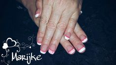 French sculpture with free hand nail art